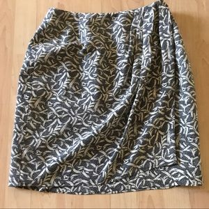 Made For Bloommngdale's Faux Wrap Silk Skirt